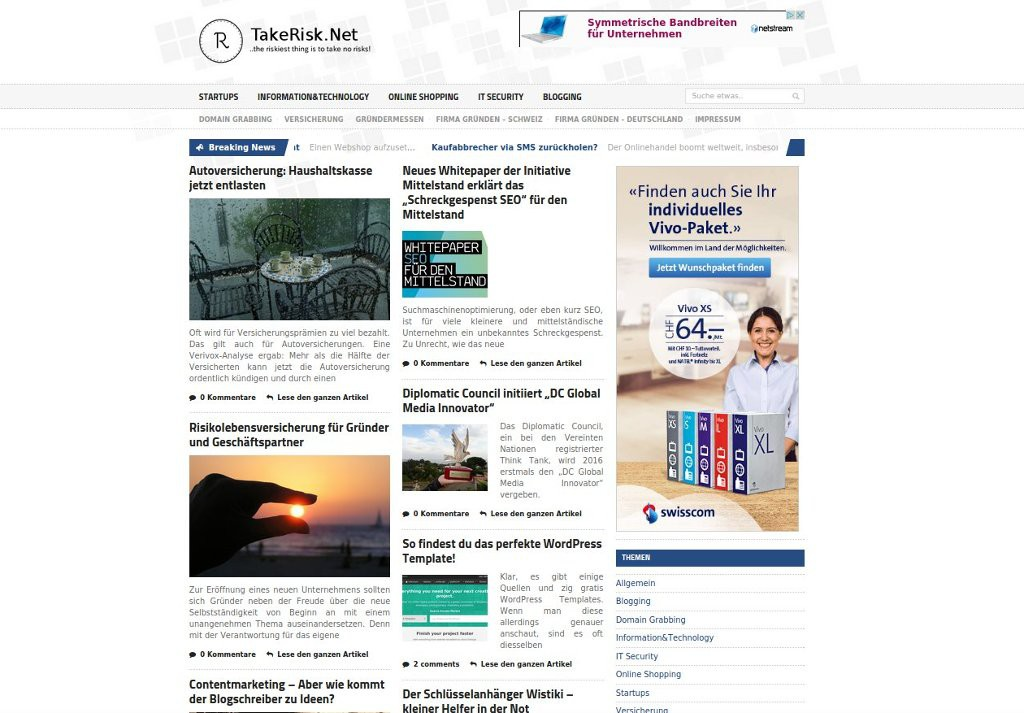 TakeRisk.net - Startups und Firmengründung